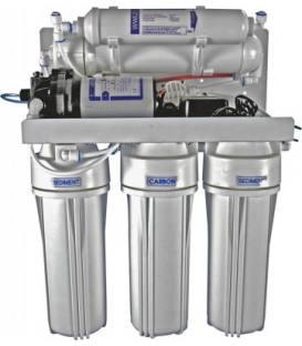 5-stufiges Umkehrosmosesystem mit 75er Membran und Druckpumpe