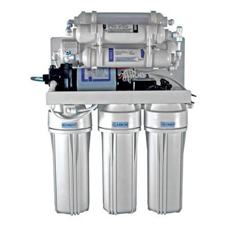 7-stufiges Umkehrosmosesystem mit 75er Membran, Remineralisierer, Biokeramik und Druckpumpe
