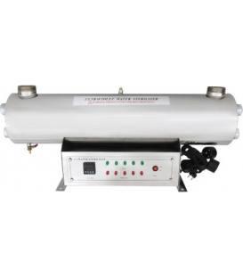 """UV Lampe 375W, 60G Gehäuse aus rostfreiem Stahl, 2 2/1"""" Anschluss, Durchfluss 13,60m3/h"""