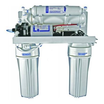 4-stufiges Umkehrosmosesystem mit 75er Membran und Druckpumpe