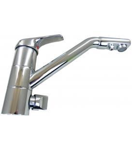 Wasserhahn verchromt – dreifache Leitung: kaltes, warmes, gefiltertes Wasser, Keramikventil