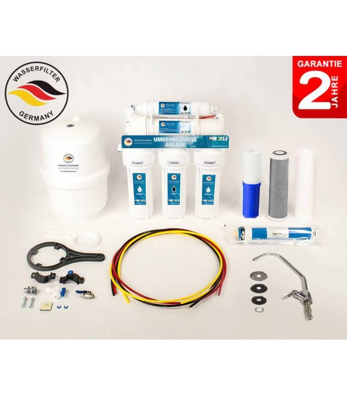 5 Stufen Umkehrosmose Anlage Osmose Wasserfilter Germany Osmoseanlage Membran RO