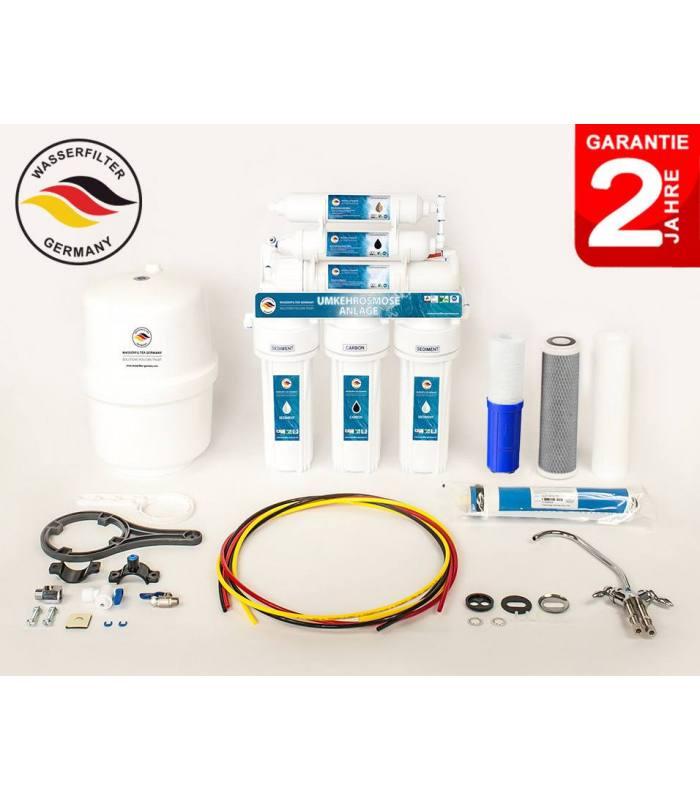 ERSATZFILTER 7 Stufen Umkehrosmose Osmoseanlage Wasserfilter Membrane 75 GPD